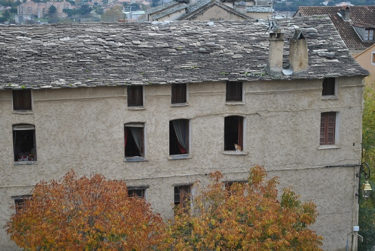En se dirigeant vers le nid d'aigle, on peut admirer quelques belles toitures anciennes.