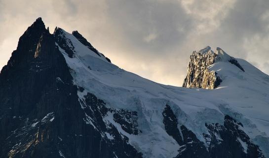 zoom vers le sommet de Paine Grande